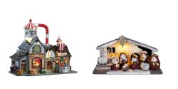 Village et crèche de Noël