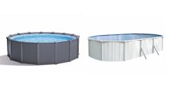 Piscine à parois PVC ou métalliques