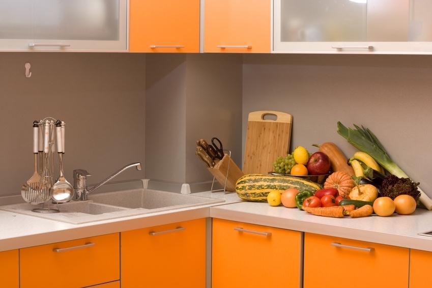 Meuble haut cuisine orange avec des id es int ressantes pour la conception de la for Meuble orange