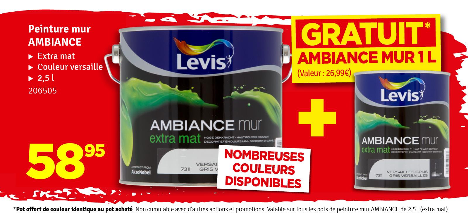 Promo - Ambiance LEVIS 1 L offert à l'achat de 2,5 L