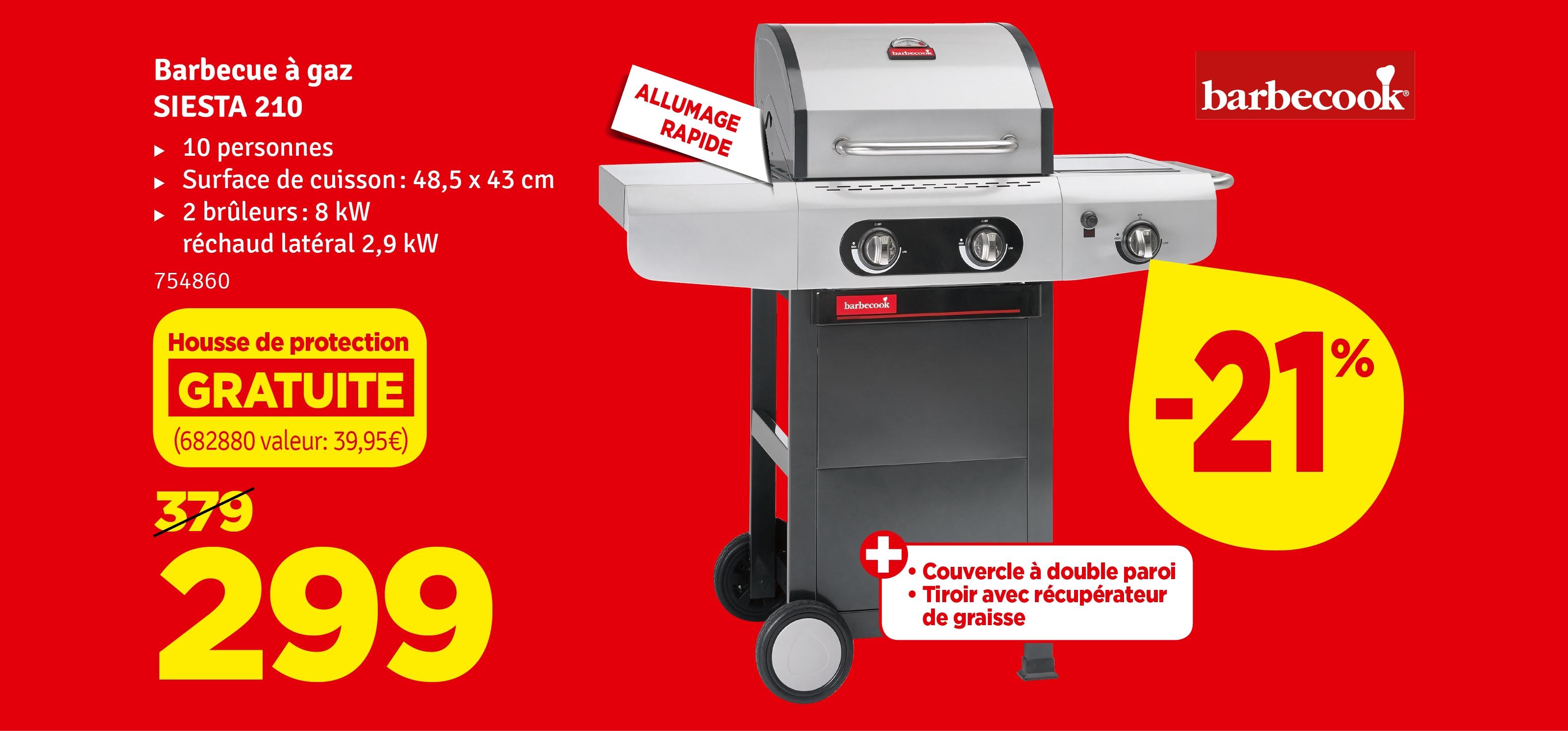 Promo - Barbecue au gaz Siesta BARBECOOK