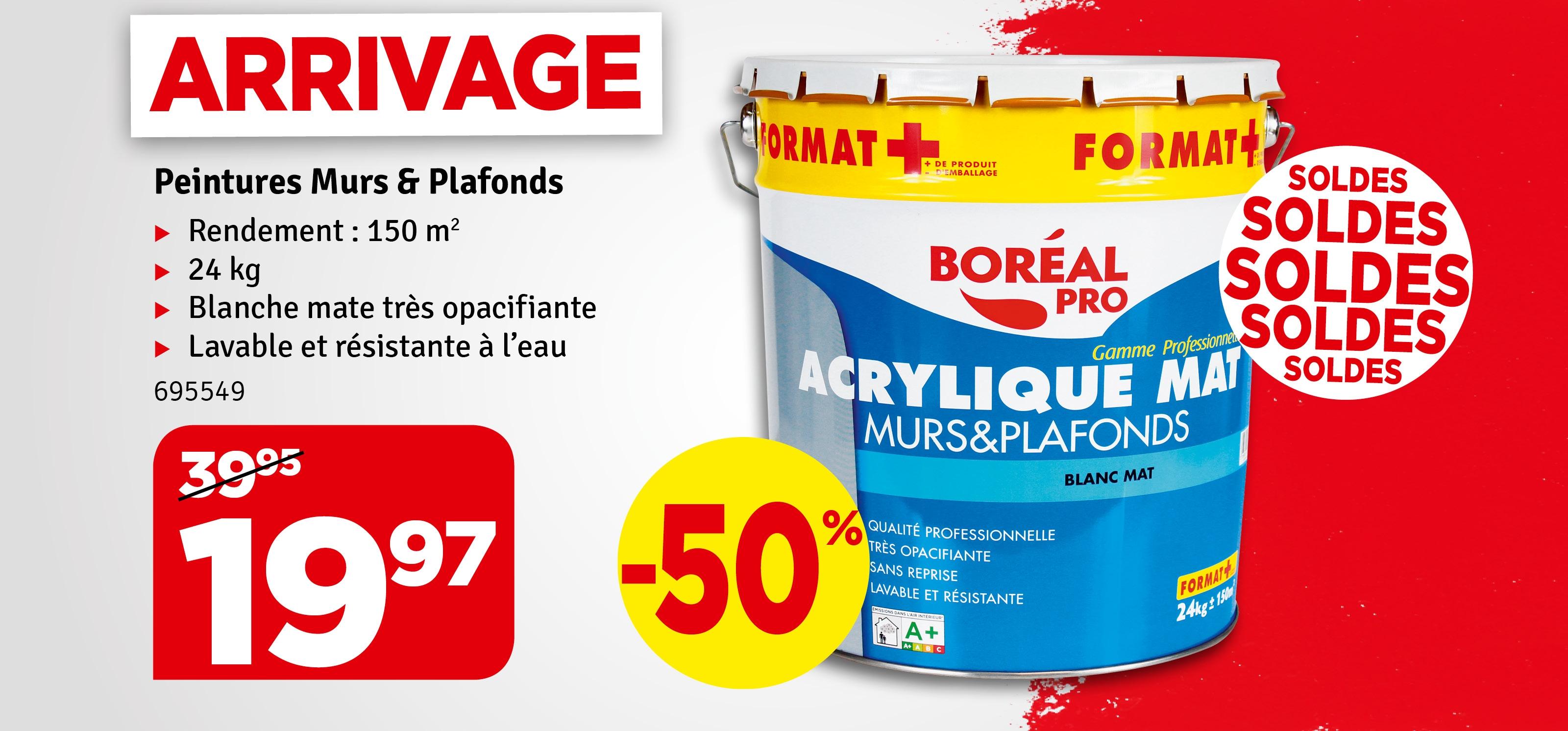 Promo - Peinture Murs & Plafonds Boréal