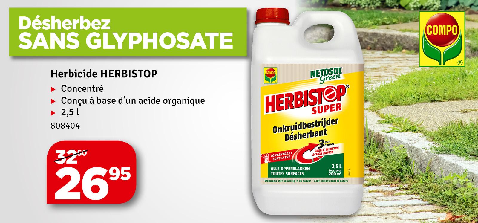 Promo - Désherbant toutes surfaces Herbistop Super concentré COMPO