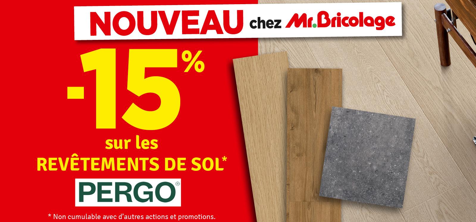 Promo - -15% Revêtement de sol Pergo