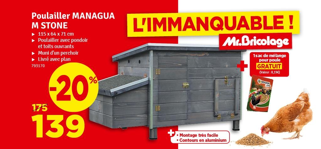 Promo - Poulailler Managua 115 x 64 x 71 cm VADIGRAN