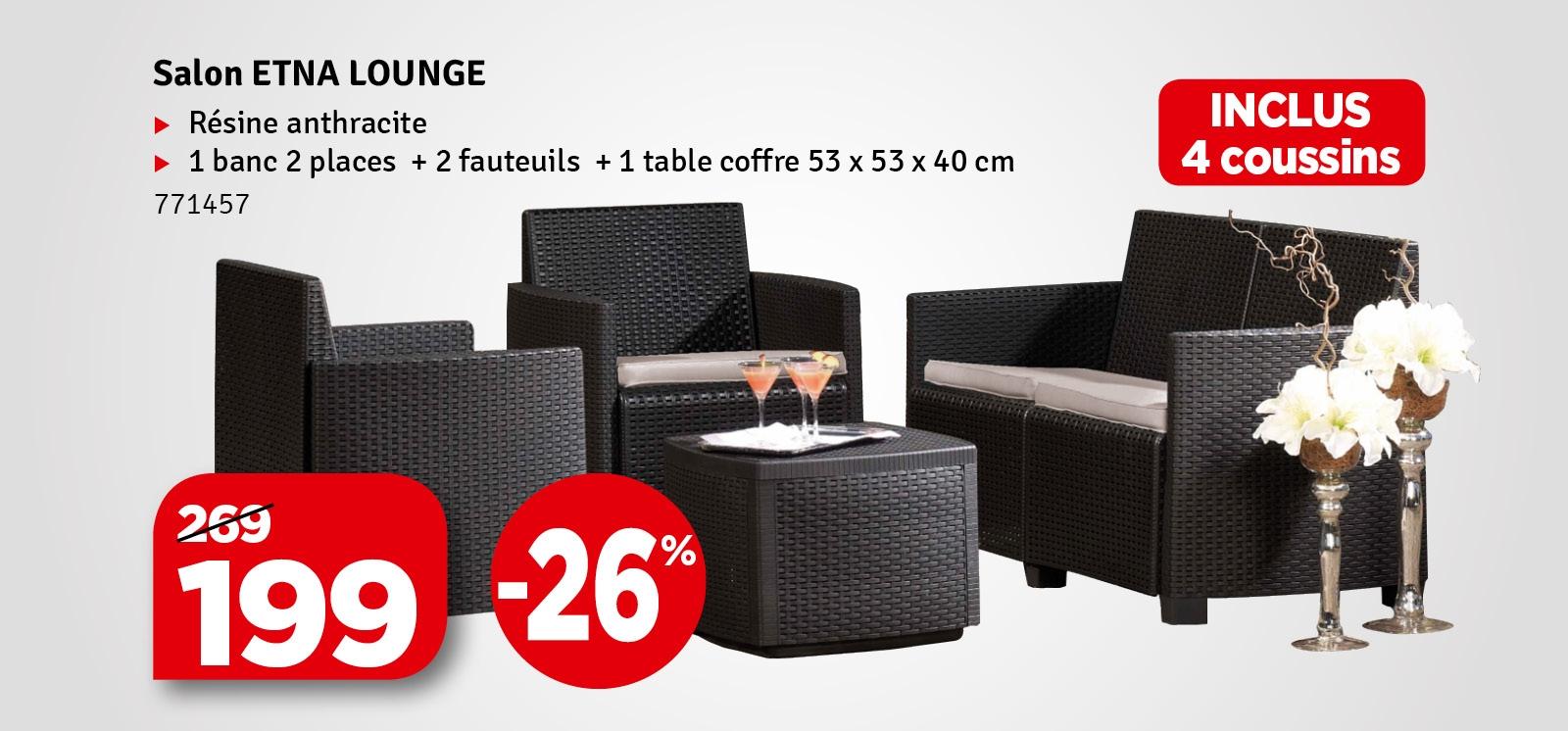 Promo - Salon de jardin Etna Lounge