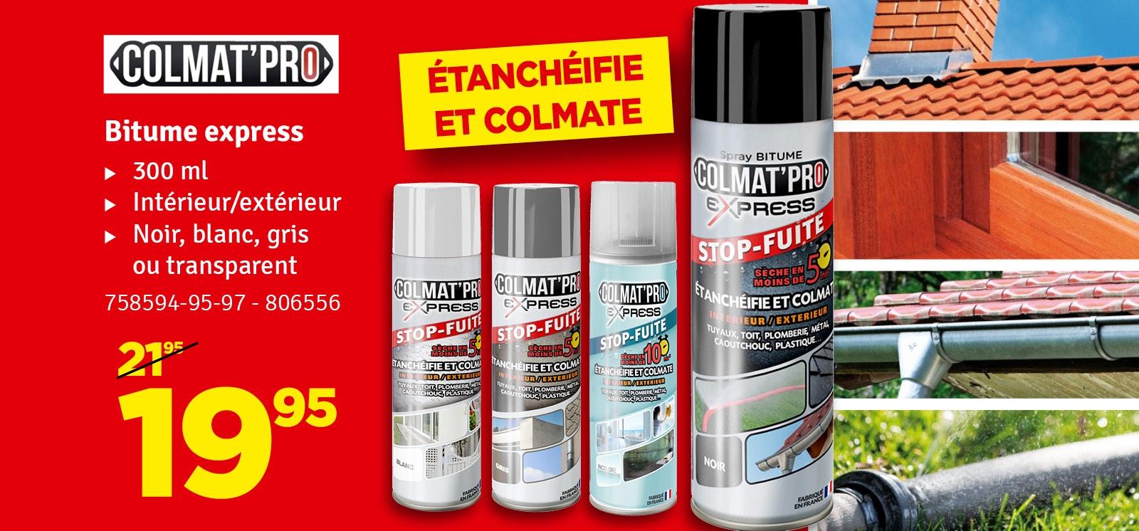 Promo - Spray pour étanchéifier et colmater Colmat Pro 300 ml