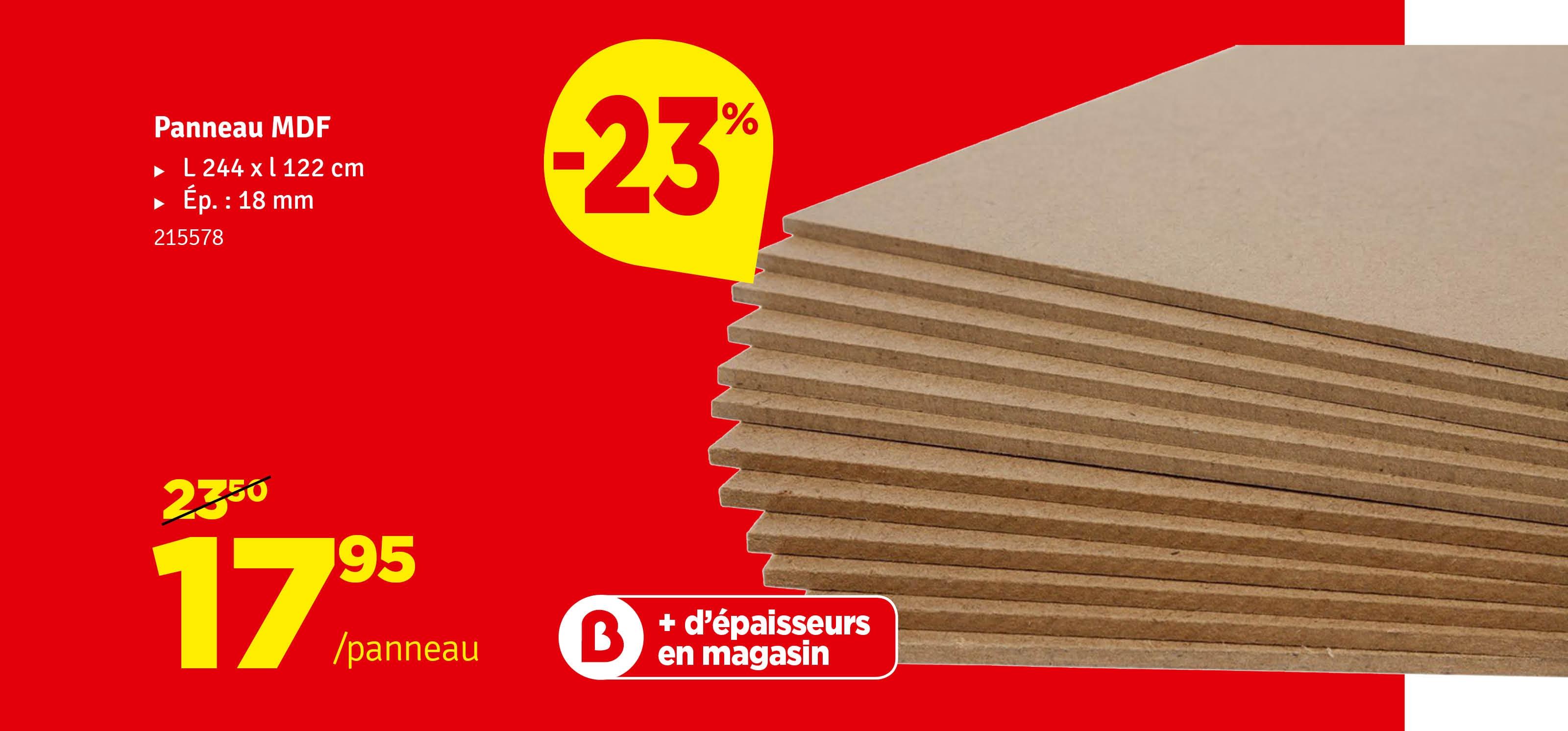 Promo - Panneau MDF 122 x 244 cm
