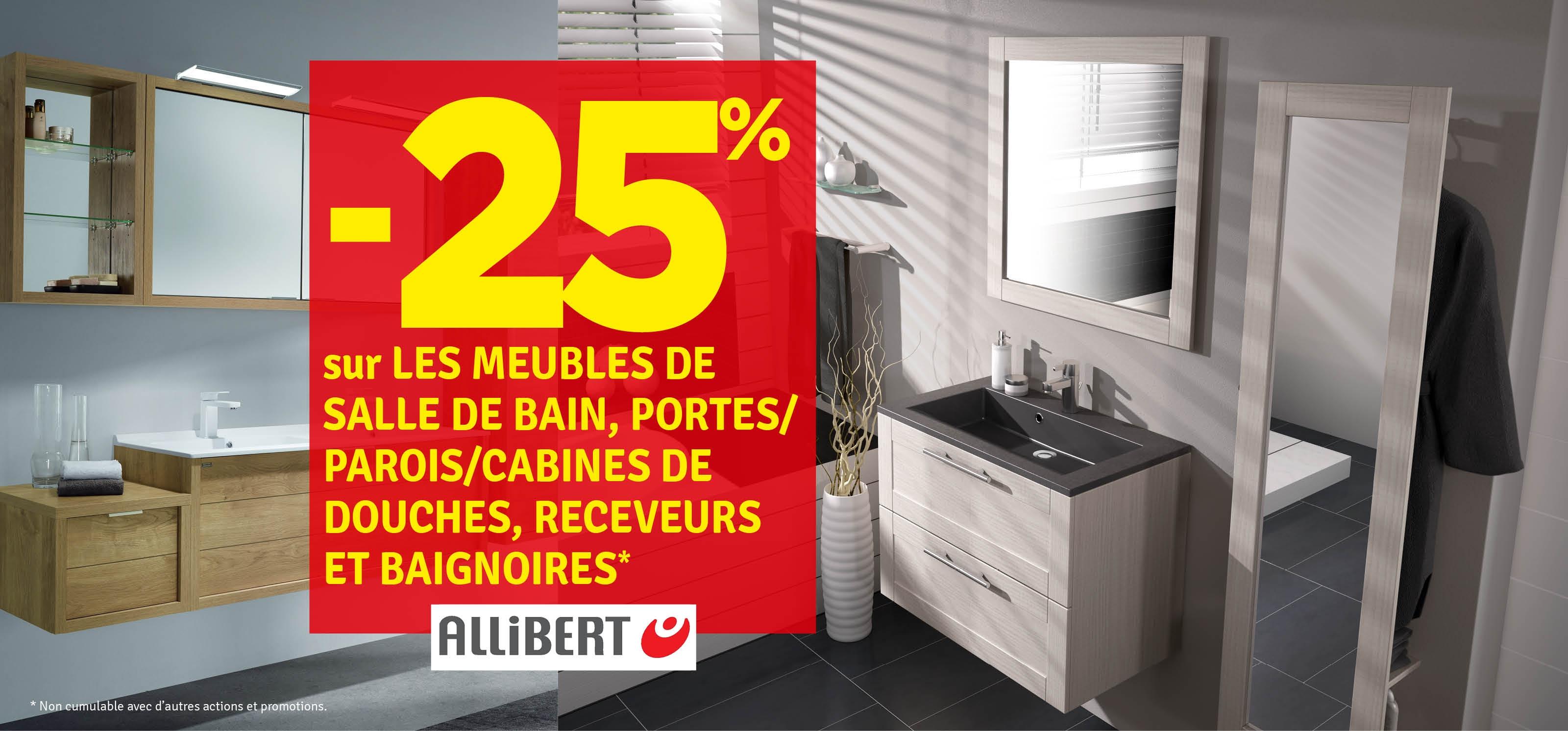 Promo - -25% sur les meubles de salle de bain Allibert