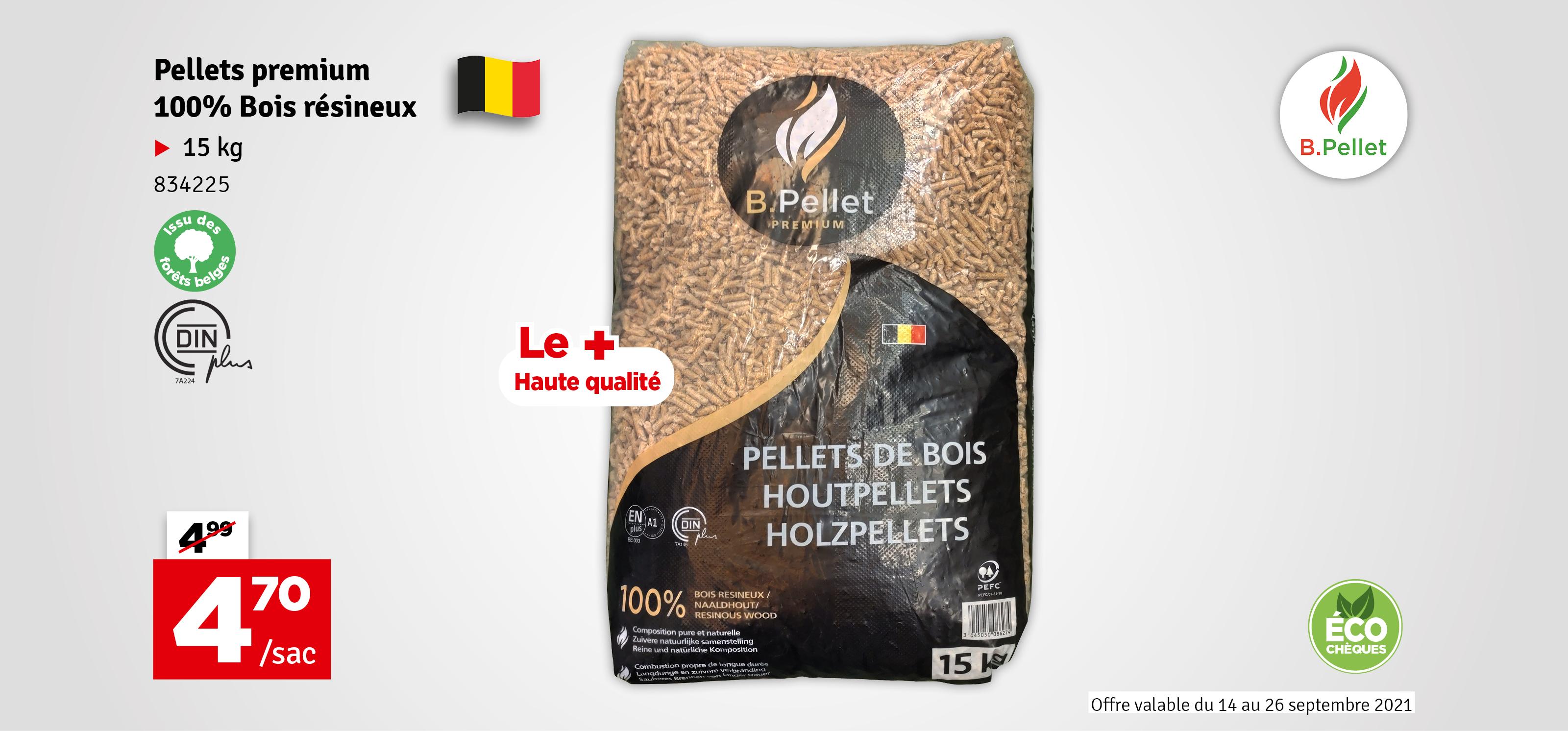 Promo - Sac de pellets résineux 15 KG