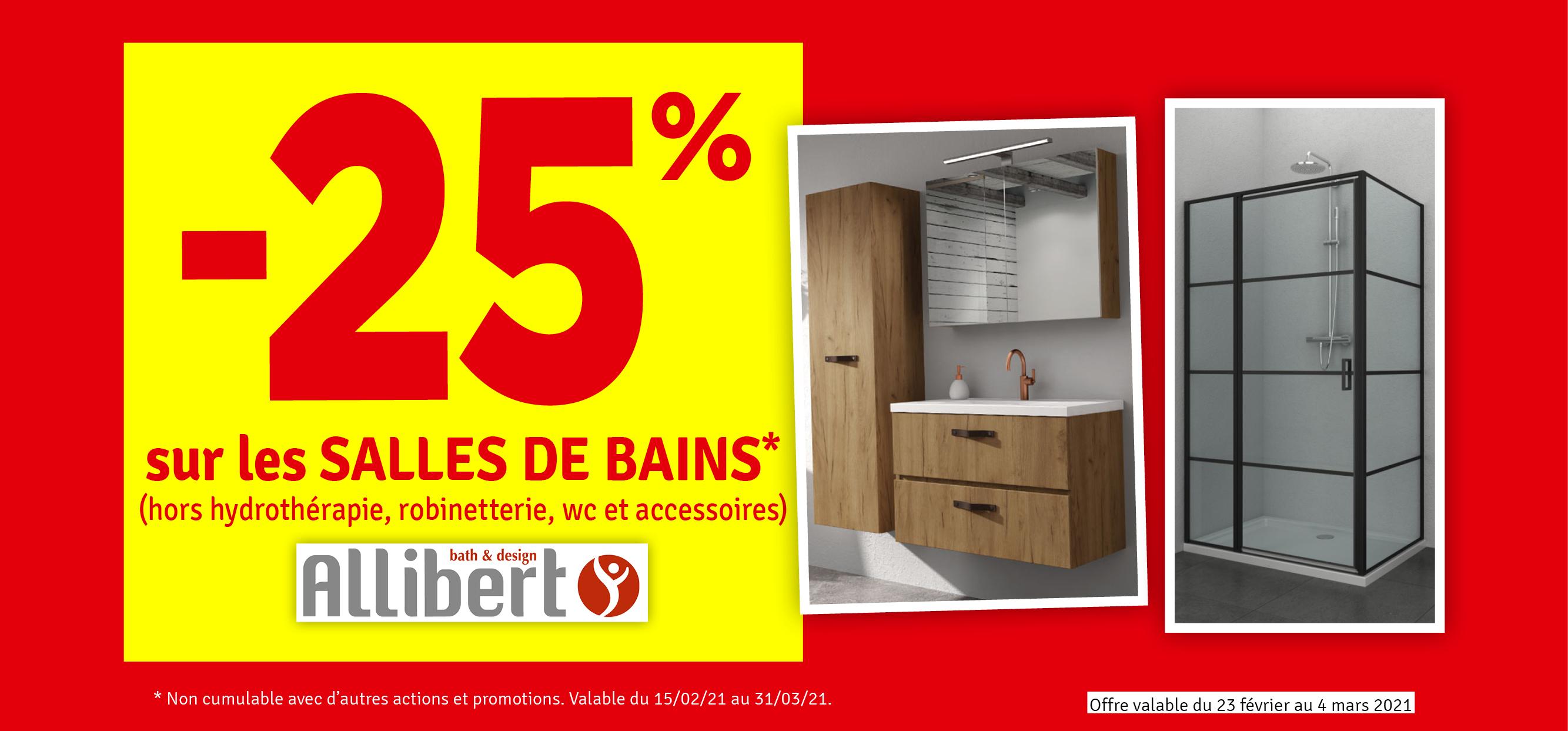 Promo - -25 % sur les salles de bain