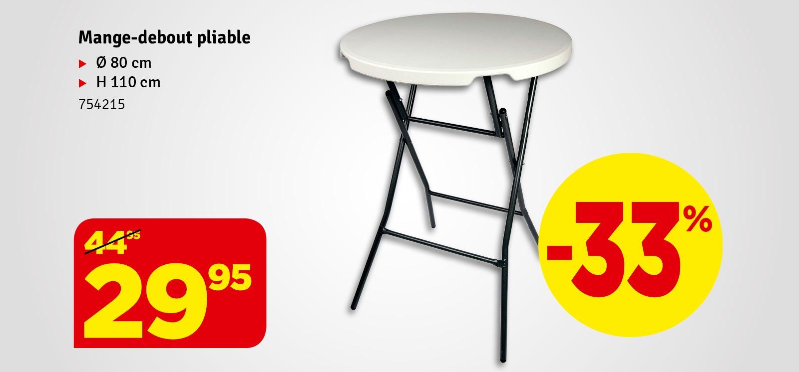 Promo - Table pliante ronde CONMETALL