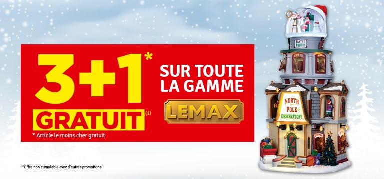 Promo - 3+1 gratuit gamme LEMAX