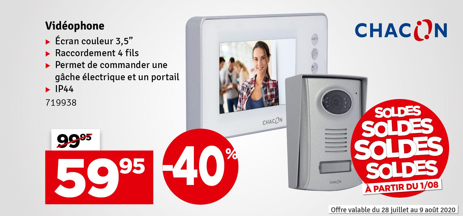 "Promo - Videophone 4 fils 3.5"" blanc"