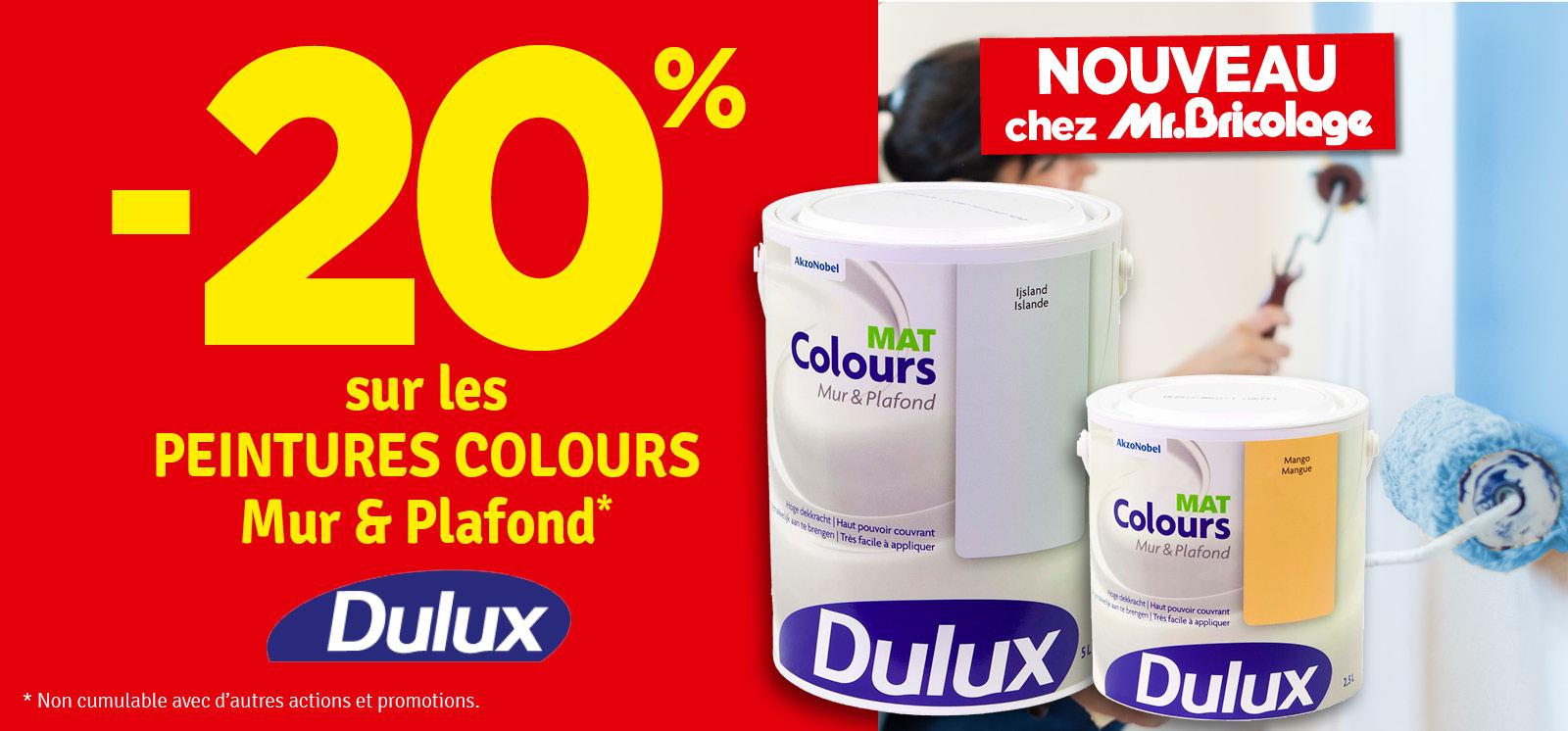 Promo - -20 % sur les peintures Colours DULUX