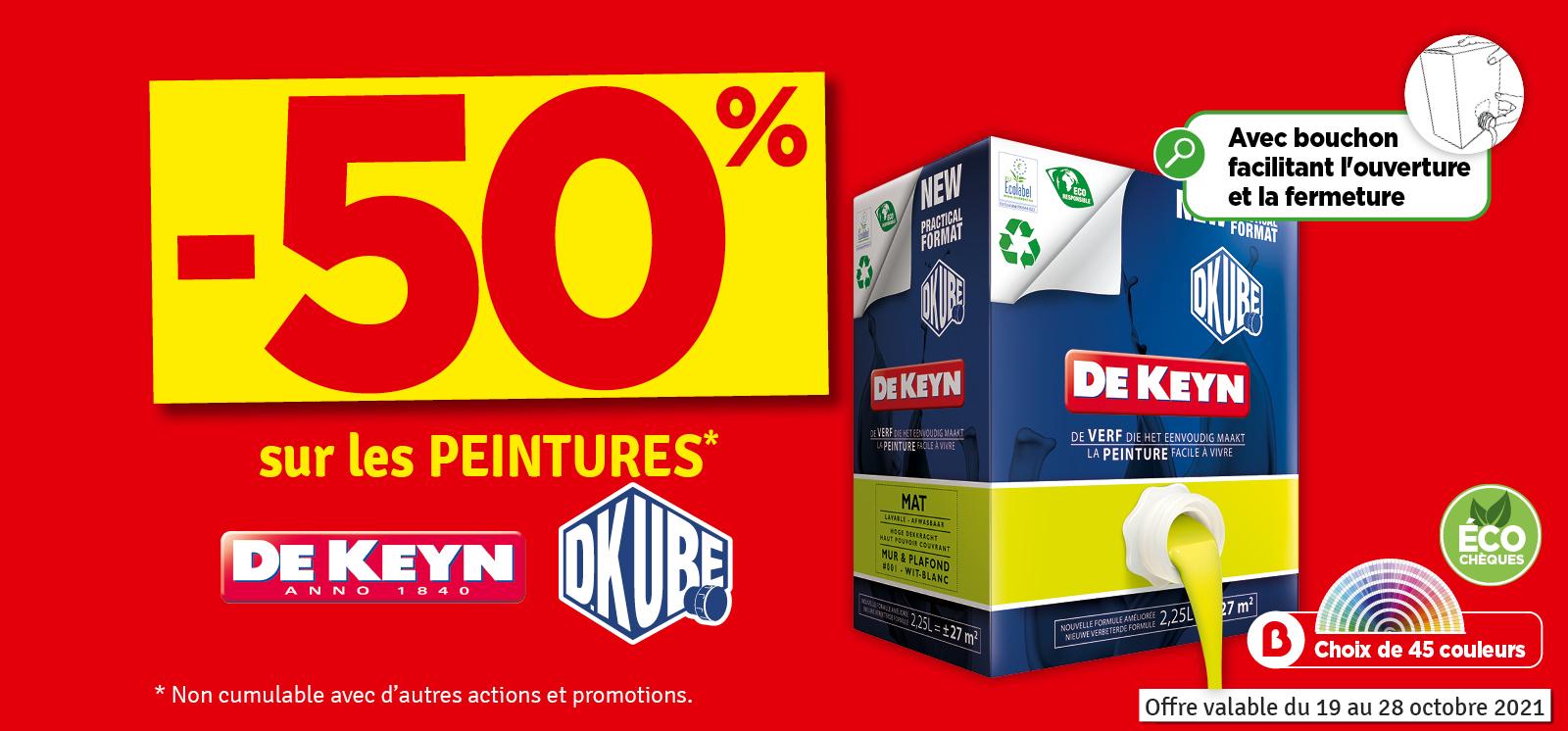 Promo - 50% sur les peintures DKUBE