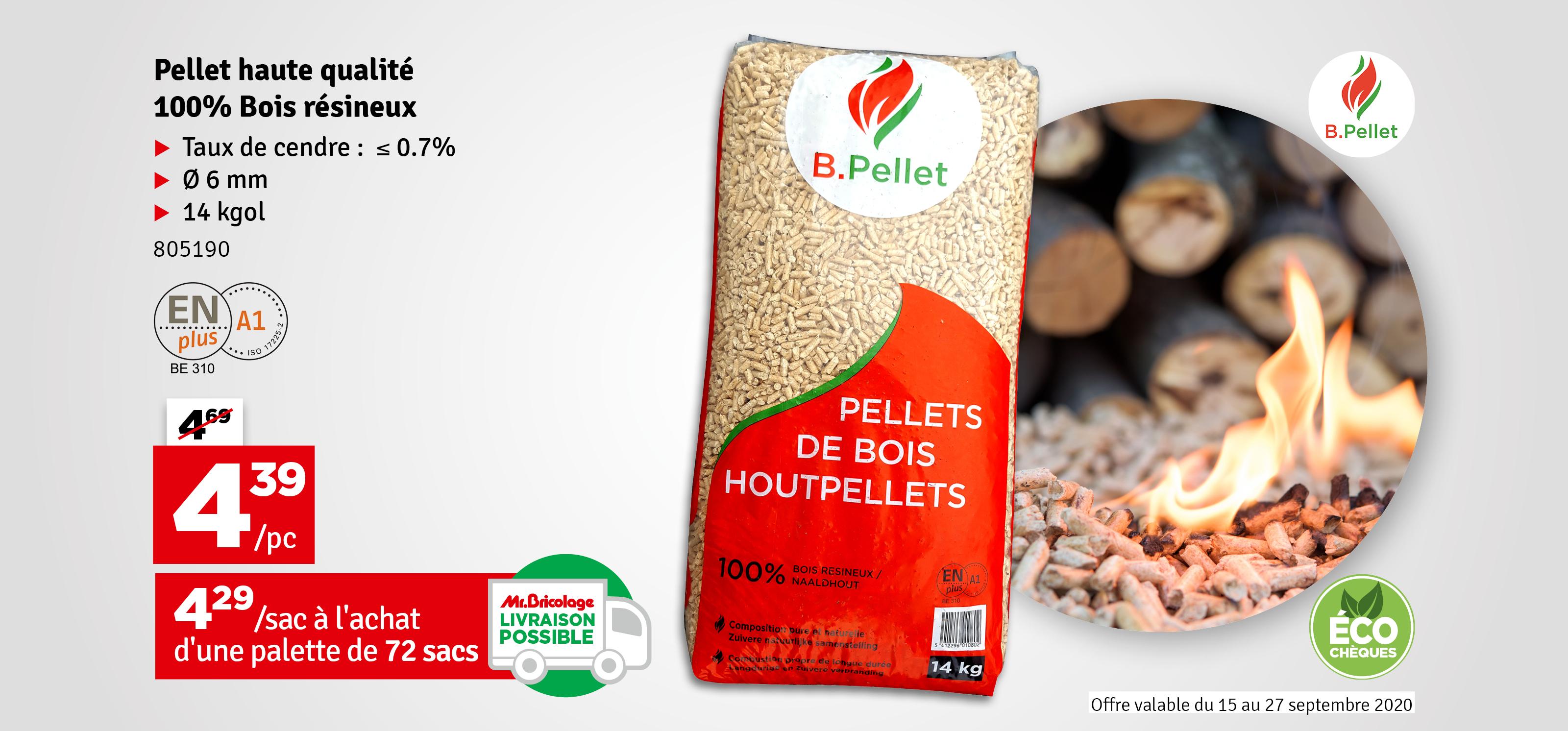 Promo - Sac de pellets résineux 14 kg B.PELLET