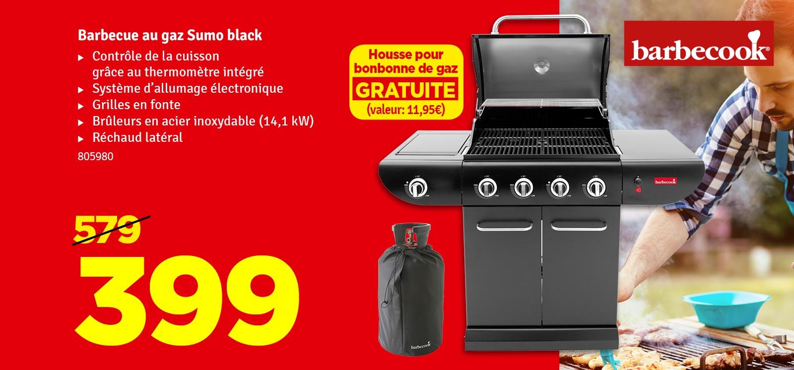 Promo - Barbecue au gaz Sumo Black BARBECOOK