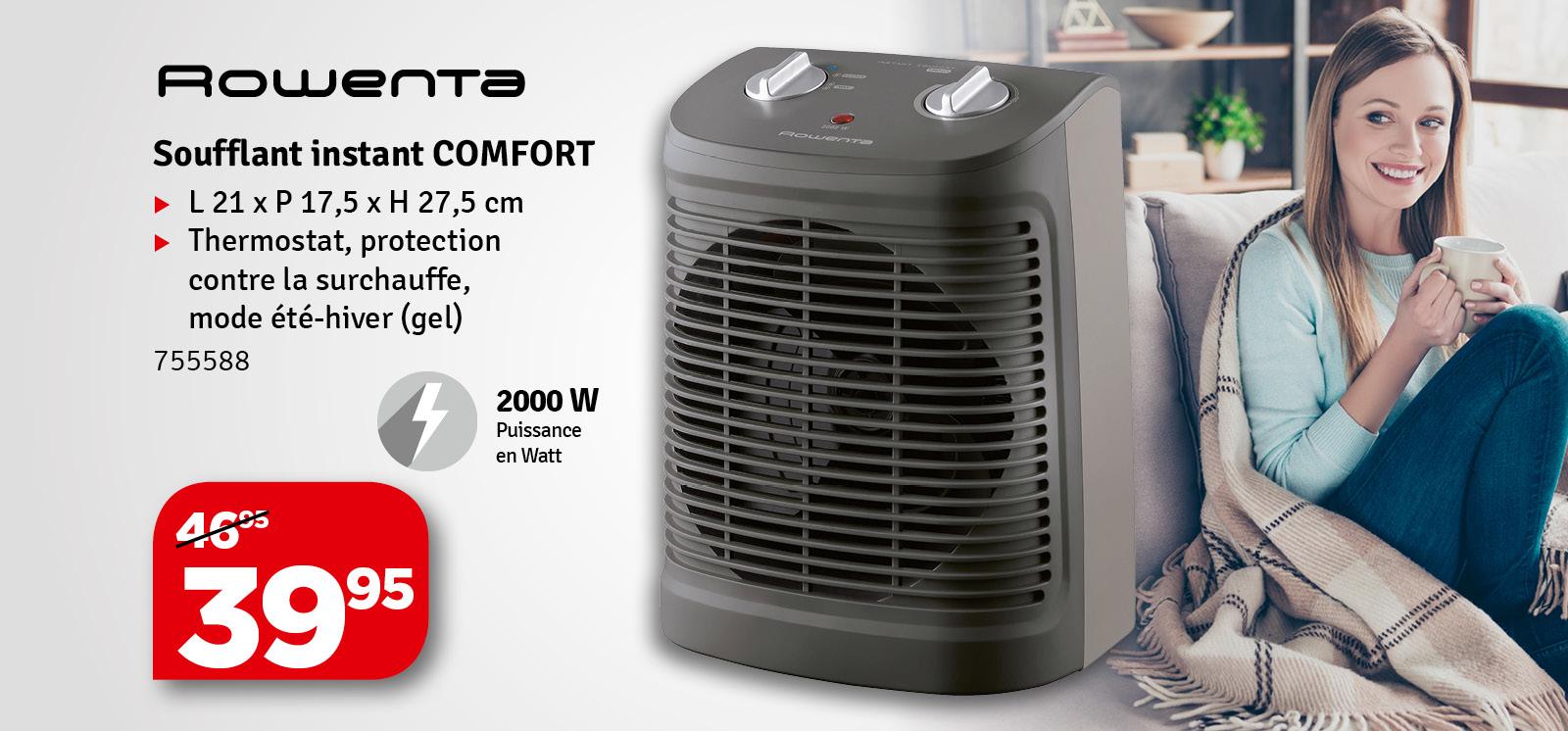 Promo - Radiateur soufflant Instant Comfort ROWENTA