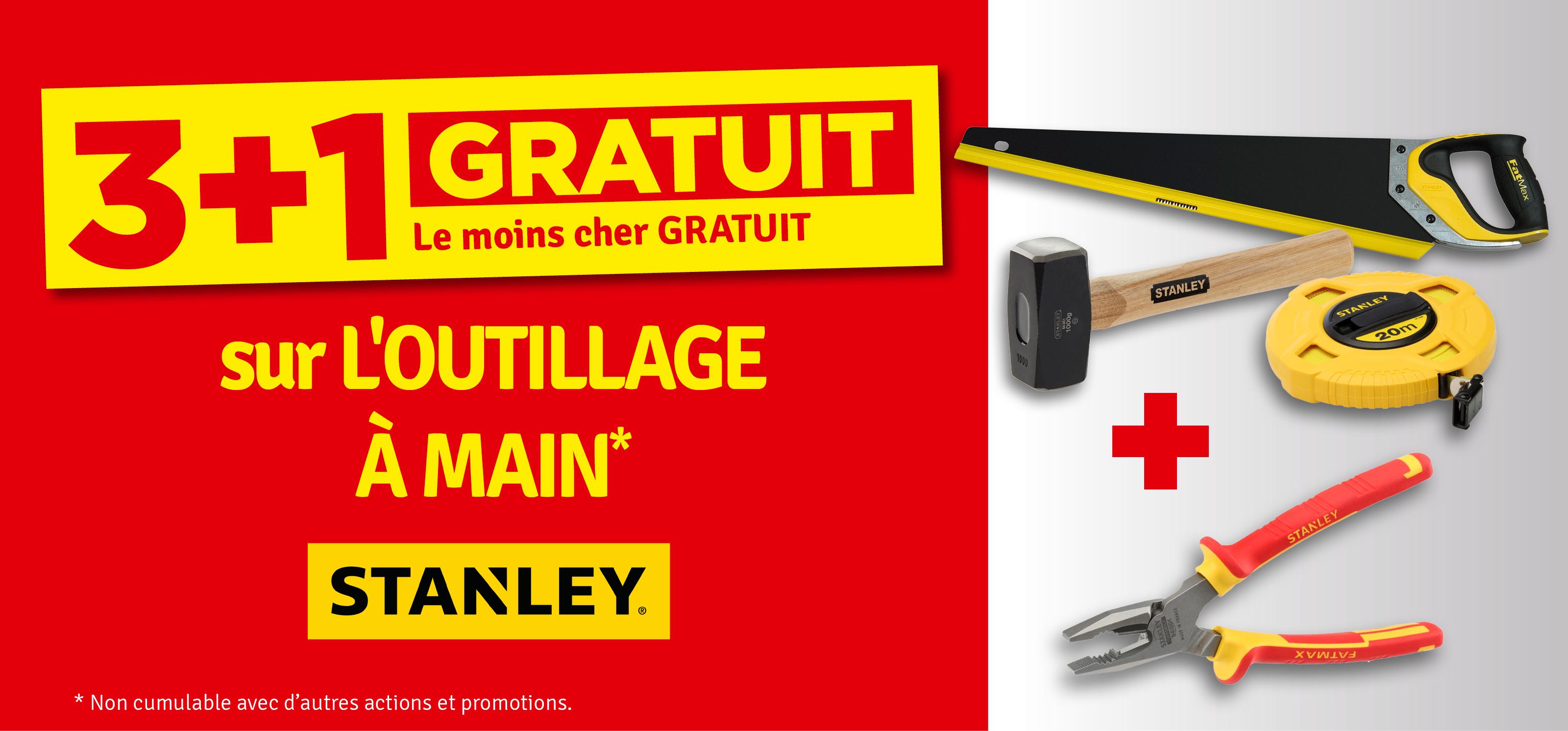 Promo - 3+1 gratuit Outillage à mains STANLEY