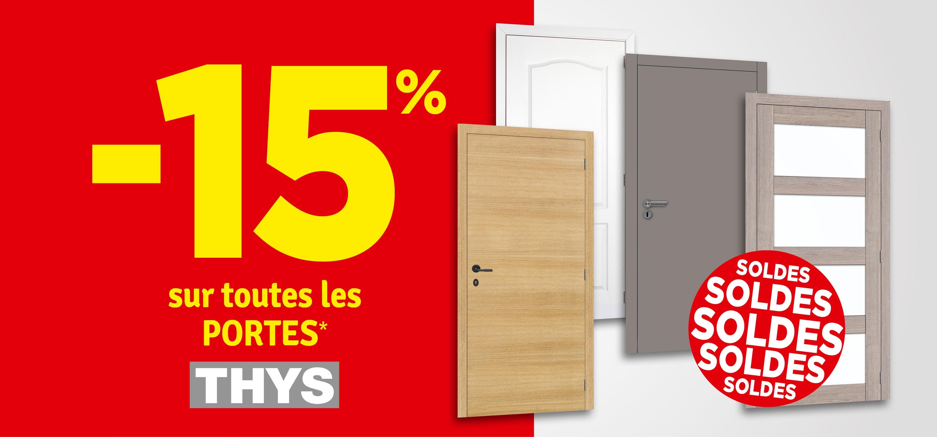 Promo - 15% sur les portes Thys