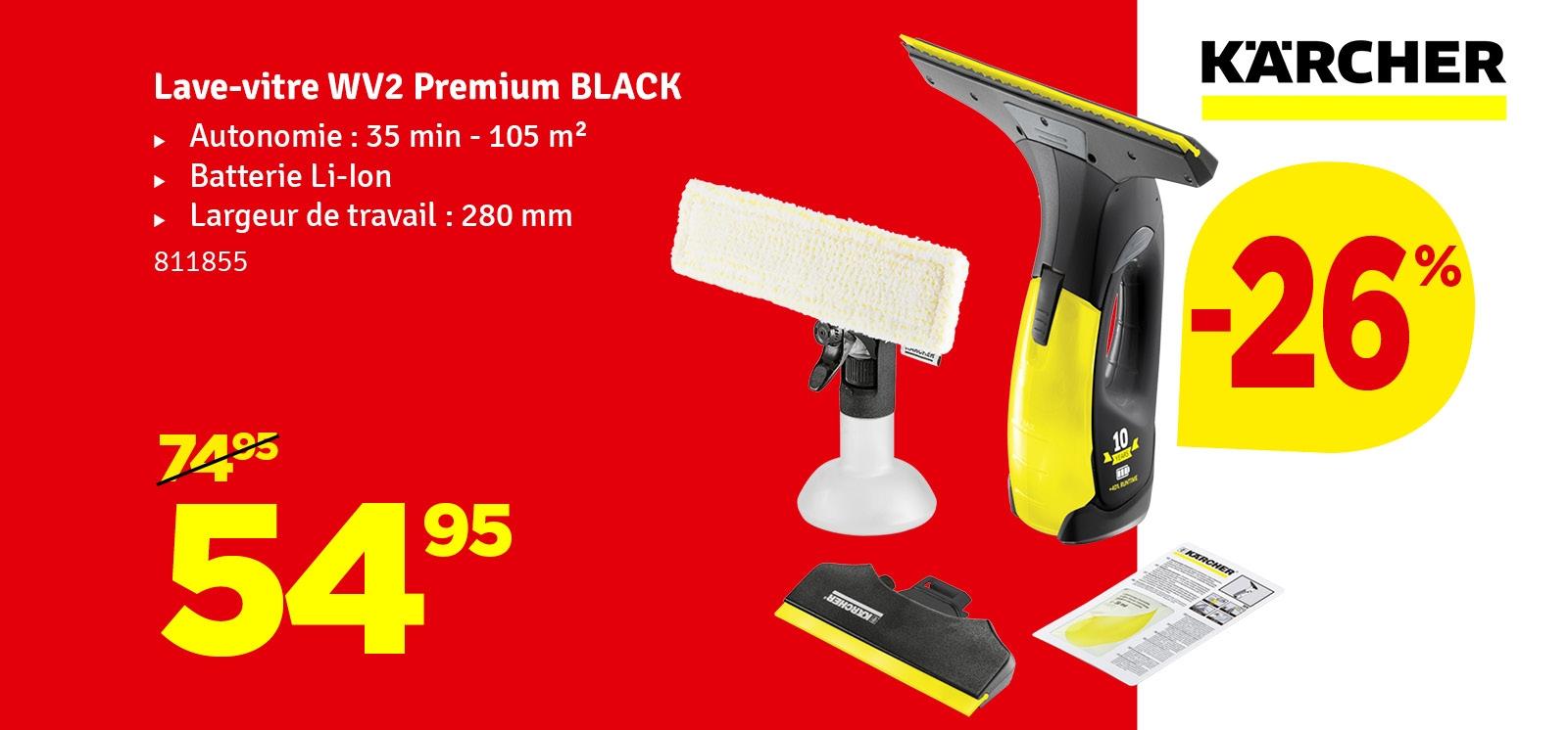 Promo - Nettoyant de vitre WV 2 Premium Black KÄRCHER