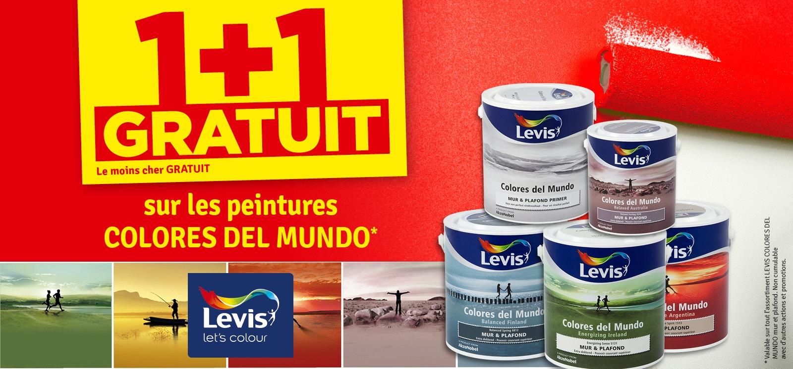 Promo - Peinture Colores Del Mundo LEVIS 1 + 1 gratuit