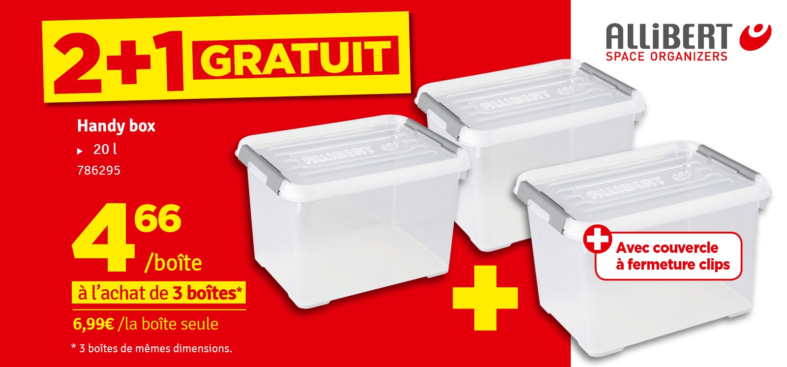 Promo - Box de rangement Handy + 20 L ALLIBERT