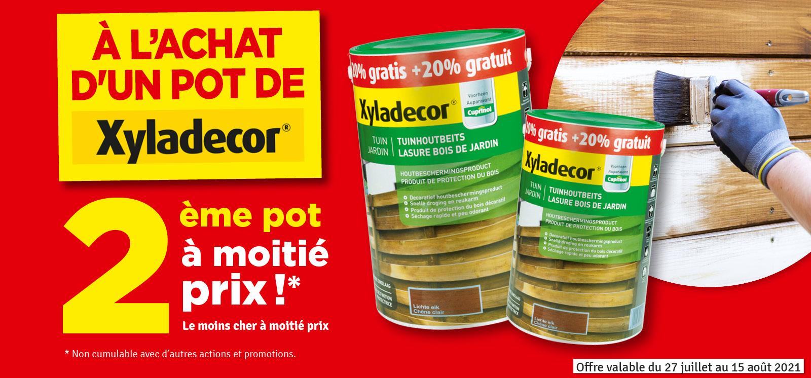 Promo - Xyladecor deuxième pot à moitié prix