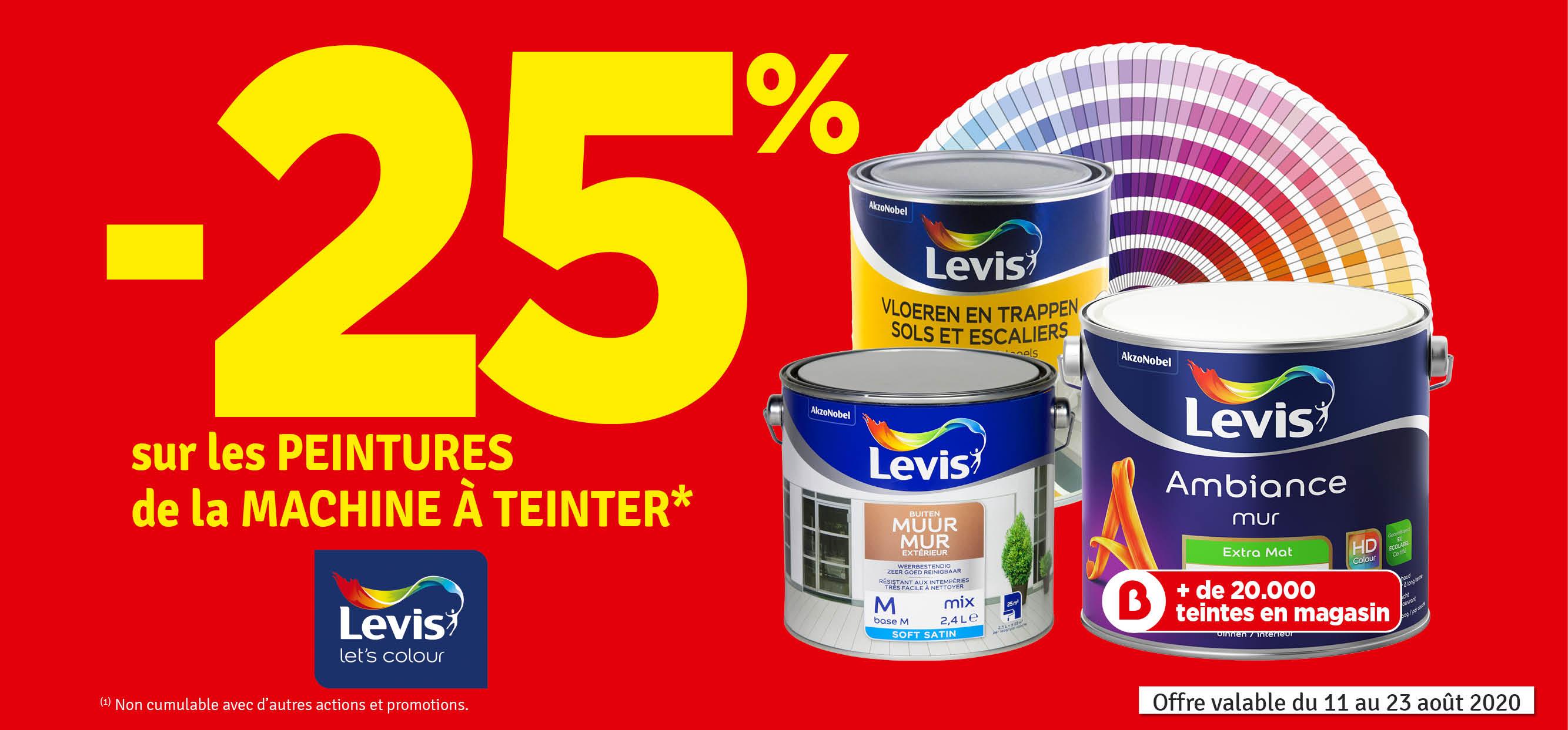 Promo - -25 % sur la machine à teinter LEVIS
